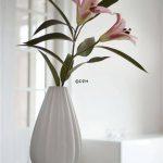 beyaz porselen vazo modeli