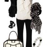 beyaz siyah pantolon kombin modeli