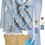 buz mavisi pantolon kombin modeli