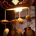 deniz kabuğu figürlü ledli fener modeli