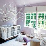 eflatun beyaz kız bebek odası