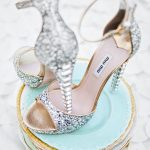 gümüş simli stiletto modeli