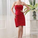 kırmızı drapeli gece elbise modeli