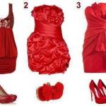 kırmızı gece elbise kombin modelleri