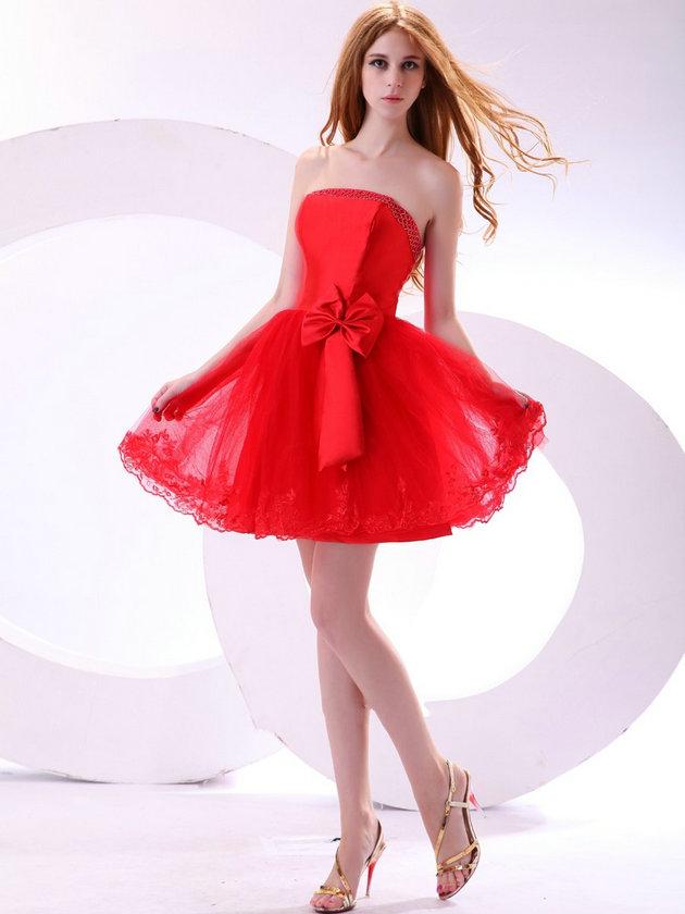 257d81b0acdc2 kırmızı straplez gece elbise modeli – moda bayan giyim kadın elbise ...