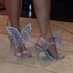 kelebek figürlü gümüş stiletto modeli