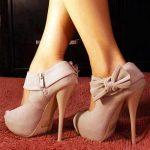 krem fiyonk detaylı ayakkabı modeli