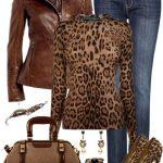 leopar body pantolon kombin modeli