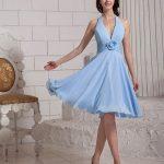 mavi mini gece elbise modeli