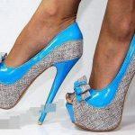 mavi sıra dışı ayakkabı modeli