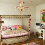 modern renkli kız bebek odası takımı