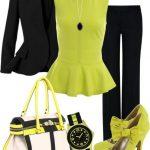 neon yeşil bluz pantolon kombin modeli