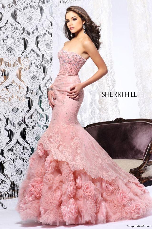 e63f9abbfbdb0 pembe balık kesim abiye modeli – moda bayan giyim kadın elbise ...