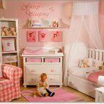 pembe beyaz dekoratif kız çocuk odası