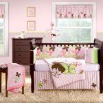 pembe kahve kız çocuk odası