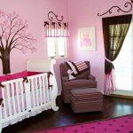 pembe kahve modern dekoratif çocuk odası