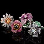 renkli çiçekli tasarım yüzük modelleri