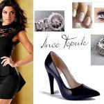 siyah dantel elbise kombin modeli