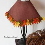 sonbahar temalı abajur modeli