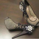 tül taş işlemeli ayakkabı modeli