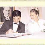 Müşerref Akay ile Ekber Gence'nin evlilik resmi