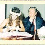Niran Ünsal ile Selçuk Soğukçay'ın evlilik resmi