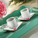 Kütahya Porselen El Yapımı Limagos Güllü Kahve Takımı