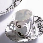 gümüş yaldızlı türk kahvesi fincanı