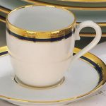lacivert çizgili altın yaldızlı fincan