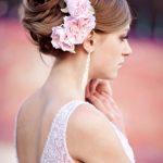 yamdam çiçek detaylı gelin saçı