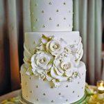 şık görünümlü düğün pastası