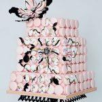 kelebekli düğün pastası