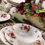 çiçekli sunum porselenleri