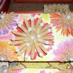 dekoratif renkli makarna ile süslenmiş kutu