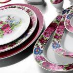 gül desenli kütahya porselen yemek takımı