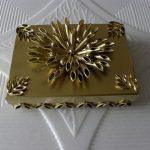 makarna ile süslenmiş dekoratif kutular