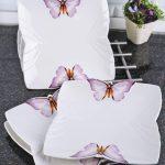 mor kelebekli servis tabakları