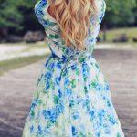 çiçekli yazlık elbise