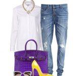 beyaz gömlek ve kombini