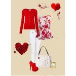 kırmızı pabtolon beyaz bluz kombin