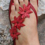 kırmızı sandalet