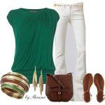 yazlık beyaz pantolon kombinleri